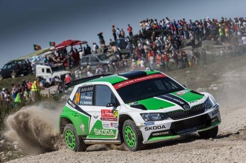 Skvělý výkon vynesl továrního pilota týmu Škoda Motorsport do vedení v Portugalsku